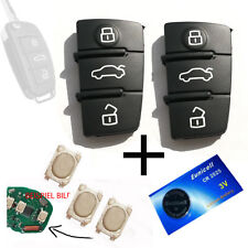 2 Funkschlüssel Tastenfeld Gummi für AUDI Schlüssel + 3 Smd Taster + 1 Batterie