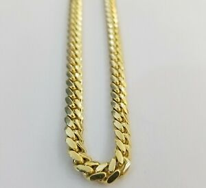 """Real 14k Gold Miami cuban Solid Links Chain 26"""" 6mm Men Necklace Solid 14kt Gold"""