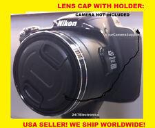 FRONT LENS CAP DIRECTLY to NIKON COOLPIX P7800 P 7800 DIGITAL CAMERA+HOLDER