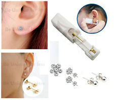 Flower Crystal Sterlised Disposable  Ear Piercing Gun + Sterile Bezel Studs