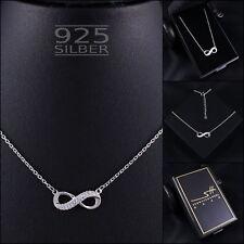 Unendlichkeitskette 925 Sterling Silber Damen ❤ SWAROVSKI ELEMENTS ❤ inkl. ETUI