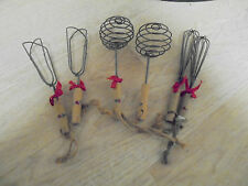 (6) Vintage Mid West Importers Assortave Decorative Wire Spiral Whisk Ornaments