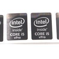 100pcs  Sticker Badge decal for inside CORE i5 vPro 21*15.5mm Black ST076 NEW
