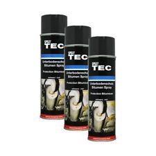 3x Kwasny SprayTec Unterbodenschutz Spray Bitumen Schwarz AutoK 500ml 235500