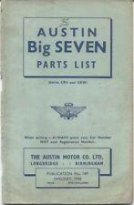 Parts Catalogues Seven Car Manuals and Literature