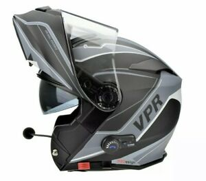 VIPER RS-V171 ZONE BLUETOOTH FLIP FRONT MOTORCYCLE HELMET+ FREE PINLOCK MEDIUM