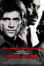 LETHAL WEAPON movie poster GIBSON & GLOVER adventure ACTION cops GUNS 24X36- RY2