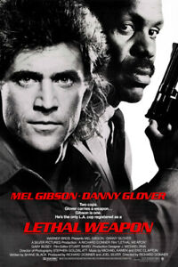 """LETHAL WEAPON Movie Poster HD Canvas Art Print 12 16 20 24"""" Sizes"""