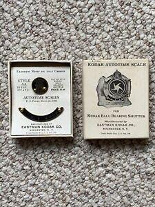 Vintage KODAK Autotime Scale for Camera Shutter Type AA w/ Box