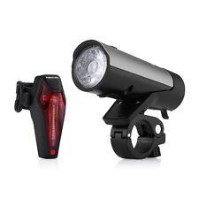 USB Rechargeable Li-ion Battery Bike LED Light Set Front & back Light Set