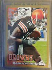 2010 Topps Gold #192 Carlton Mitchell  RC  : Cleveland Browns