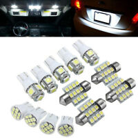 Xenon White LED Lights Interior Package T10 & 31mm Map Dome License Plate 13PCS