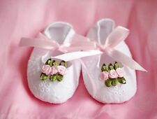 Baby Girl Sweet White Gifted Princess Ballerina Cotton Shoes 0-3-6 months