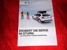 """BMW x1 e84 """"Edition Powder Ride"""" Spécial Modèle prospectus feuille de 2012"""