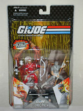 GI Joe 2008 HARD MASTER & SNAKE EYES Comic 2 Pack MOC