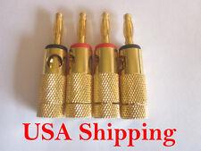14 pcs Speaker Banana Plugs Binding Post Screw Type Audio Adapters E0503 USA