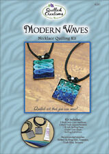 MODERN WAVE-Necklace Quilling Kit-Quilled Paper Jewelry Craft-Pendant/Satin Cord