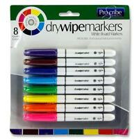 8 X WHITEBOARD MARKERS ERASABLE DRY WIPE MARKERS COLOUR PENS OFFICE SCHOOL PENS