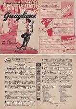 """Spartito Musicale  """"Guaglione"""" 1° Premio al Festival della Canzone Napoletana"""