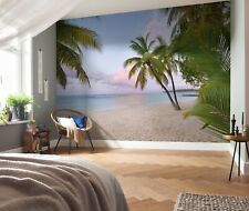 Mural wallpaper 368x248cm for bedroom Morning in paradise beach scene photo wall