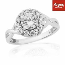Cubic Zirconia White Gold Engagement Fine Rings