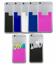 Smart Silicone Mobile Phone Wallet Card 3M Stick Cash Credit Card Holder Iphone