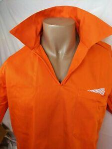 Orange pullover w/collar, Pocket, Safety Orange , Strong material