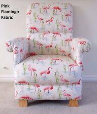 Flamingo Fabric Adult Chair Armchair Pink Birds Nursery Bedroom Animals Girls