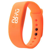Shockproof Womens Rubber LED Watch Date Sports Bracelet Digital Wrist Watches