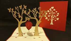 3D Pop Up Card - Love with all HEART.(Engaged, Anniversary, Wedding, Blank Card)