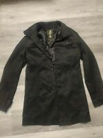 Mens Smart Coat Black Small Trench Coat Style