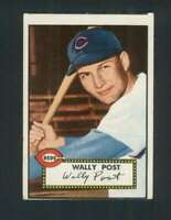 1952 Topps #151 Wally Post VGEX RC Rookie Reds 109229