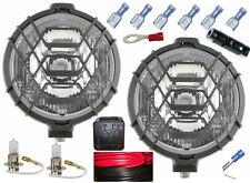 2 Stück H3 Halogen Fernscheinwerfer Scheinwerfer 12V Gitter + Anschlussset Birne
