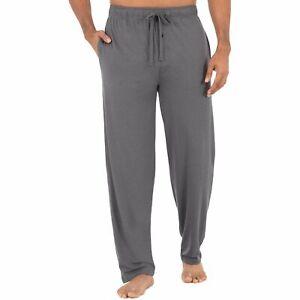 Fruit of the Loom Men's Beyond Soft Knit Sleep Pant Size Large Grey Feed Stripe