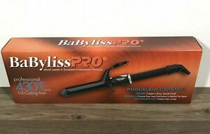 """NEW BABYLISS PRO 1 1/4"""" PORCELAIN CERAMIC SERIES 430° SPRING CURLING IRON BP125S"""