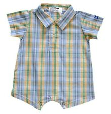 Oshkosh B'gosh Woven Plaid Romper #920 Infant/Baby Boy Clothes, Size: 12 months