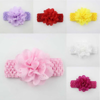 Adorable Baby Girls Flower Cute Bow Headband Elastic Hairband Hair Accessories