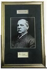 President Grover Cleveland Framed Original Signature & Portrait