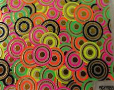 Nailart stickers ongles autocollants: cercles design multicolores dorés