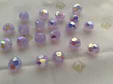 24 Swarovski #5000 8mm Crystal Violet Opal AB Faceted Round Beads