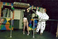 Org Amateur Semi Nude Large (10.25 x 7) Photo- Funhouse- Clown- Skirt- Stockings