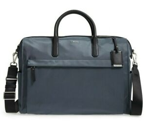 Tumi Dara Carry-all Nylon & Leather Laptop Bag Briefcase Weekender Tote in SLATE