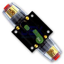 50 Amp In-Line DC Circuit Breaker Solar/Audio/Car/RV 50A/50AMP Fuse 12V/24V/32V