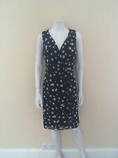 New Womens Tu Clothing Navy Polka Dress Chiffon V Neck Size 12 Delabelled