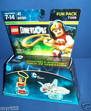 New Lego Dimensions Fun Pack 71209 DC COMICS WONDER WOMAN Invivisble Jet NISB