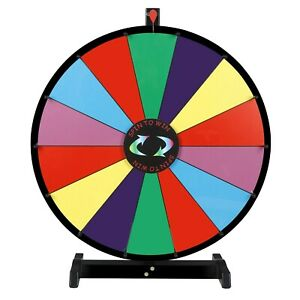 """Zeny 18"""" Prize Spin Wheel, Trade Show Game  Spinner, Teaching Material for Kids"""