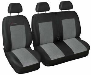 Van seat covers fit Volkswagen LT 1+2 charcoal grey P2