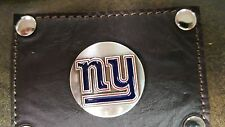New York Giants 3 Piece Leather Luggage Set- Duffle, Messenger & Travel Kit