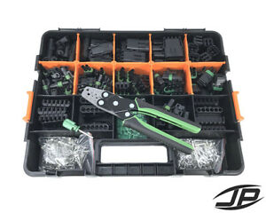 612 PC Delphi Weather Pack Connector Kit with Contacts Removal & Crimp Tools