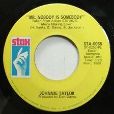 Soul 45 Johnnie Taylor - Mr. Nobody Is Somebody / Love Bones On Stax